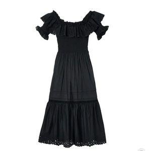 Rebecca Taylor Nouveau Eyelet Midi Dress